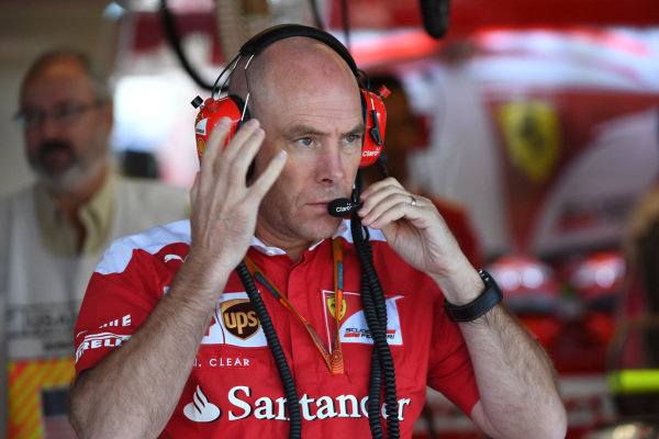 Jock Clear (GBR) Ferrari Chief Engineer at Formula One World Championship, Rd18, United States Grand Prix, Practice, Circuit of the Americas, Austin, Texas, USA, Friday 21 October 2016.