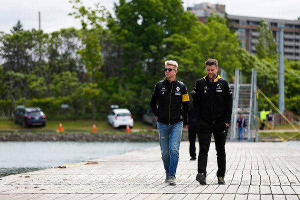 Nico Hulkenberg, Renault Sport F1 Team, arrives at the circuit.