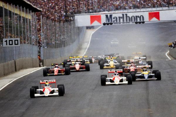 Ayrton Senna, McLaren MP4/5B Honda.