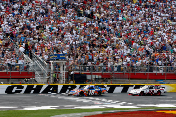 27-29 May, 2010, Concord, North Carolina USAKyle Busch beats Brad Keselowski to the checkered flag to win the race©2010, Lesley Ann Miller, USALAT Photographic