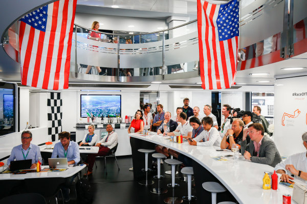 Monte Carlo, Monaco. Sunday 28 May 2017. McLaren adopts a distinctly American feel in the hospitality area, in celebration of their participation in the Indy 500 with Fernando Alonso, McLaren. World Copyright: Andy Hone/LAT Images ref: Digital Image _ONZ0887