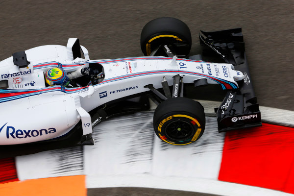 Sochi Autodrom, Sochi, Russia. Friday 9 October 2015. Felipe Massa, Williams FW37 Mercedes. World Copyright: Charles Coates/LAT Photographic ref: Digital Image _J5R9369