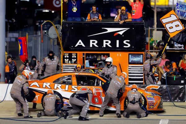 10-11 September, 2015, Richmond, Virginia USA Daniel Suarez, Arris Toyota Camry pit stop ?2015, Russell LaBounty LAT Photo USA