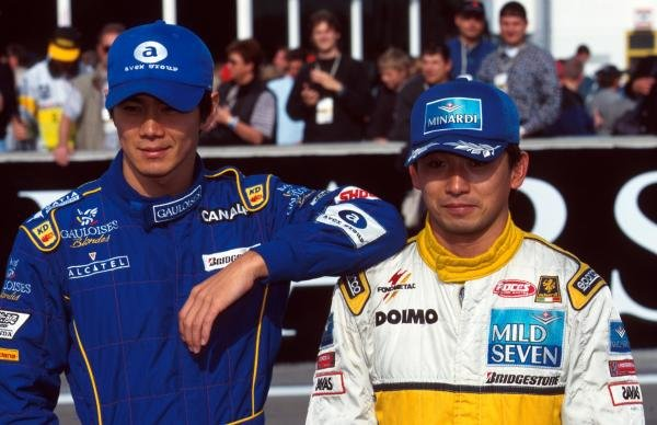 Shinji Nakano (JPN) Ligier and Ukyo Katayama (JPN) Tyrrell