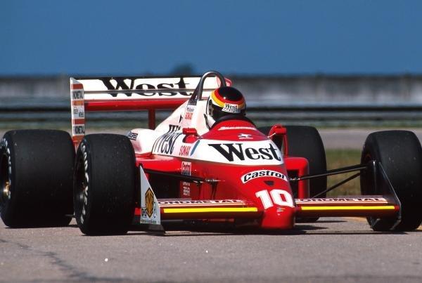 Bernd Schnieder (GER) West Zakspeed 881 DNQ Brazilian Grand Prix, Jacarepaqua, 3rd April 1988