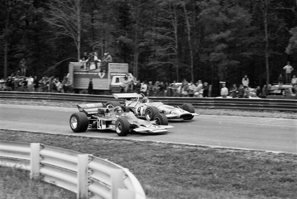 Watkins Glen, New York, USA 4th October 1970 Emerson Fittipaldi (Lotus 72C-Ford), 1st position, action. World Copyright: LAT Photographic Ref: 3345-33A-34