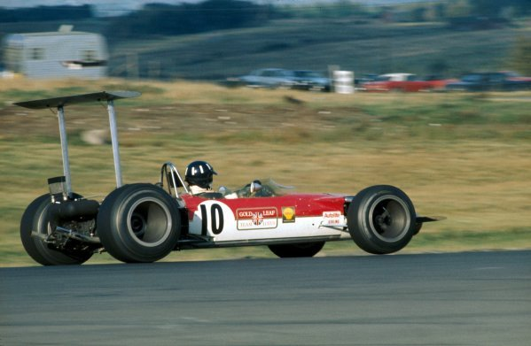 Graham Hill (GBR), Lotus Cosworth 49B, finished the race in second place, giving him a three point lead in the championship. United States Grand Prix, Rd11, Watkins Glen, USA. 6 October 1968. BEST IMAGE
