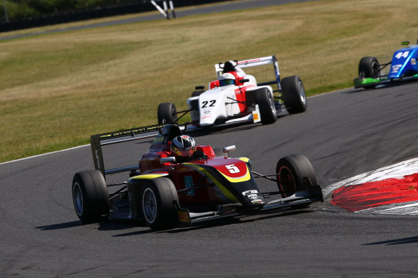 2016 BRDC F3 Championship, Snetterton, Norfolk. 6th - 7th August 2016. Jeremy Wahome (KEN) Chris Dittmann Racing BRDC F3. World Copyright: Ebrey / LAT Photographic.