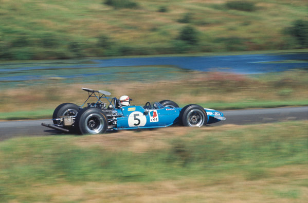1968 International Gold Cup.  Oulton Park, England. 17th August 1968.  Jackie Stewart, Matra MS10 Ford, 1st position.  Ref: 68GC11. World Copyright: LAT Photographic
