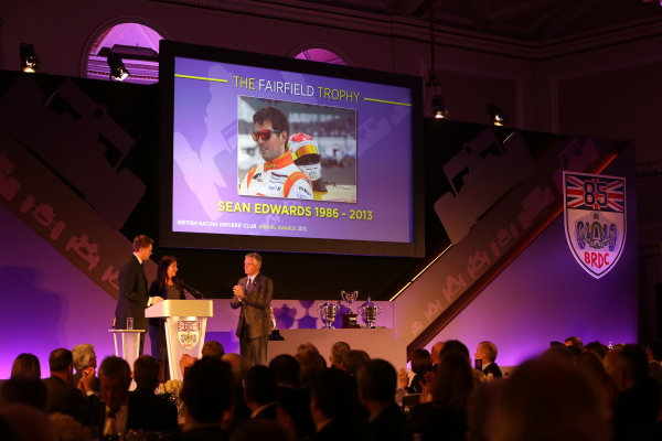 2013 BRDC Awards,2nd December 2013, Grand Connaught Rooms, London, England,Sean Edwards rememberedWorld Copyright. Jakob  Ebrey/LAT Photographic
