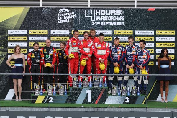 2017 European Le Mans Series  Spa-Franchorchamps, Belgium 22nd-24th September 2017 GTE Podium  World copyright. JEP/LAT Images