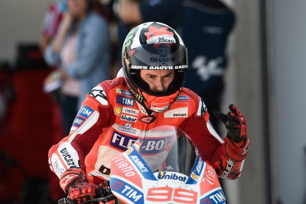 2017 MotoGP Championship - Round 14 Aragon, Spain. Saturday 23 September 2017 Jorge Lorenzo, Ducati Team World Copyright: Gold and Goose / LAT Images ref: Digital Image 13638