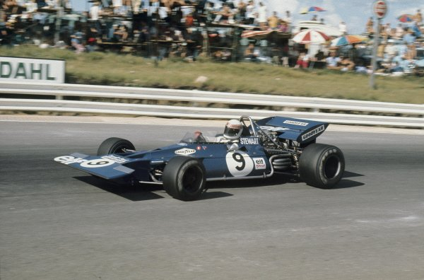Kyalami, South Africa. 4-6 March 1971.Jackie Stewart (Tyrrell 001-Ford), 2nd position, action. Ref-71 SA 24.World Copyright - LAT Photographic