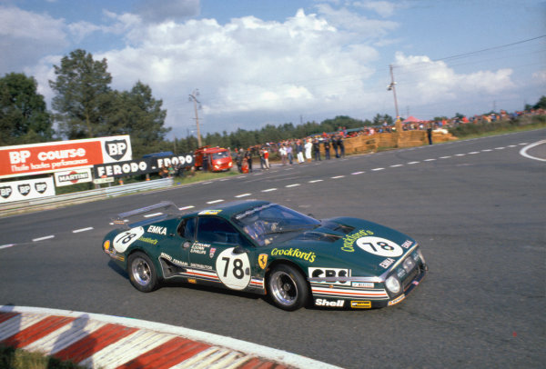 1980 Le Mans 24 Hours. Le Mans, France. 14th - 15th June 1980. Steve O'Rourke/Simon Phillips/Richard Down (Ferrari 512BB), 23rd position, action. World Copyright: LAT Photographic. Ref: 80LM07.