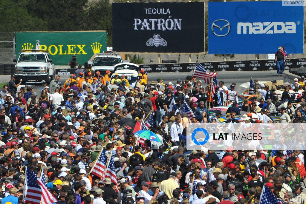 16-18 September, 2011, Monterey, California USAPre race crowd.(c)2011,  Dan R. Boyd  LAT Photo USA