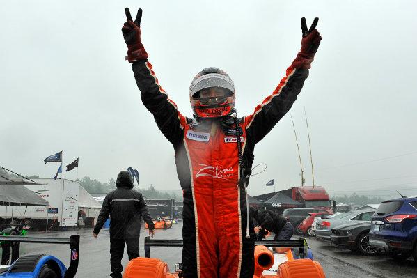 10-13 July 2014, Bowmanville, Ontario Canada  4, Remo Ruscitti, L1, Elan DP-02 Celebrates the win. ?2014 Scott R LePage  LAT Photo USA