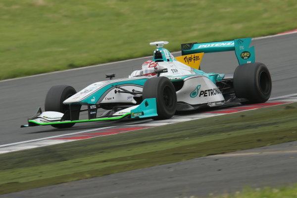 2014 Super Formula Series. Fuji, Japan. 11th - 13th July 2014. Rd 3. Winner Kazuki Nakajima ( #37 TEAM TOM'S SF14 ) action. World Copyright: Yasushi Ishihara / LAT Photographic. Ref: 2014SF_Rd3_004.JPG