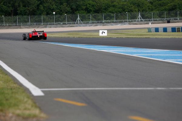 FIA Formula E Test Day, Donington Park, UK.  3rd - 4th July 2014.  Daniel Abt, Audi Sport Abt. Photo: Zak Mauger/FIA Formula E ref: Digital Image _L0U4484