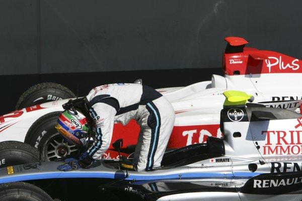 2007 GP2 Series. Round 6.Nurburgring, Germany. 22nd July 2007.Sunday Race.Kohei Hirate (JPN, Trident Racing). World Copyright: Glenn Dunbar/GP2 Series Media Service.ref: Digital ImageYY8P5447