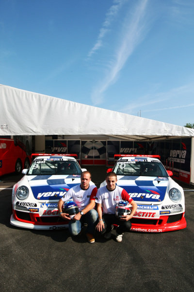 (L to R): Robert Lukas (POL) Verva Racing Team with team mate Kuba Giermaziak (POL) Verva Racing Team.