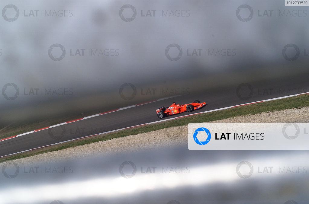 2001 European Grand Prix - RaceNurburgring, Germany. 24th June 2001.Michael Schumacher, Ferrari F2001, action.World Copyright: Steve Etherington/LAT Photographicref: 18mb Digital Image Only