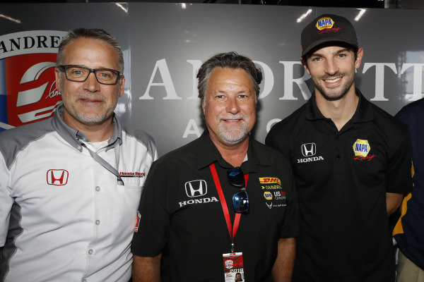 HPD President Ted Klaus, Michael Andretti and Alexander Rossi announce that Rossi will race with Andretti Autosport with Honda power in 2020.