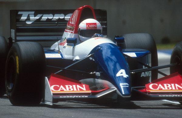 1993 Australian Grand Prix.Adelaide, Australia.5-7 November 1993.Andrea de Cesaris (Tyrrell 021 Yamaha) 13th positionRef-93 AUS 40.World Copyright - LAT Photographic