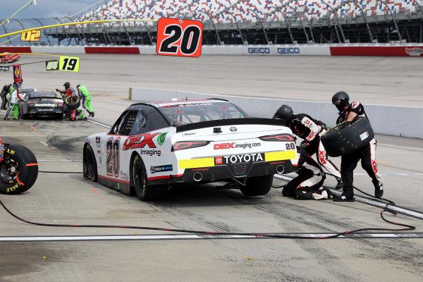 Harrison Burton, Joe Gibbs Racing Toyota, pits, Copyright: Chris Graythen/Getty Images.