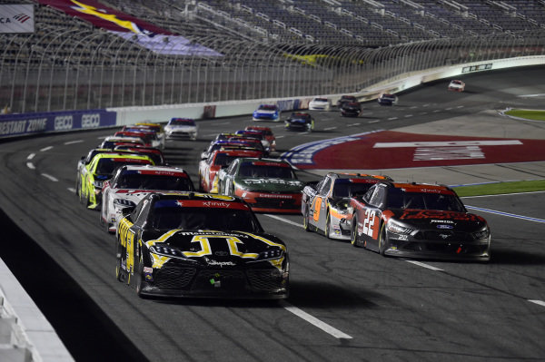 Kyle Busch, Joe Gibbs Racing Toyota App State Class of 2020, Austin Cindric, Team Penske Ford Snap-on Tools lead the field, Copyright: Jared C. Tilton/Getty Images.