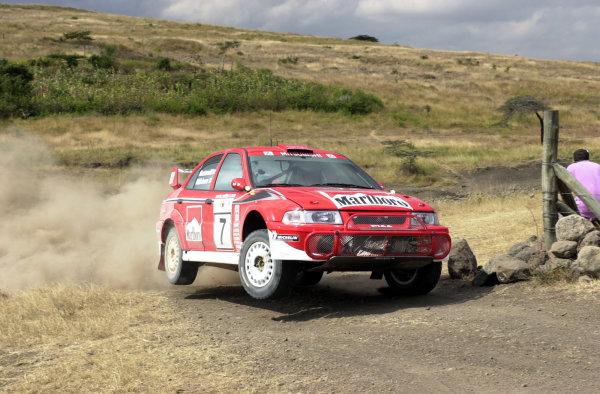2001 World Rally Championship.Nairobi, Kenya. July 20-22, 2001Tommi Makinen during shakedown.Photo: Ralph Hardwick/LAT