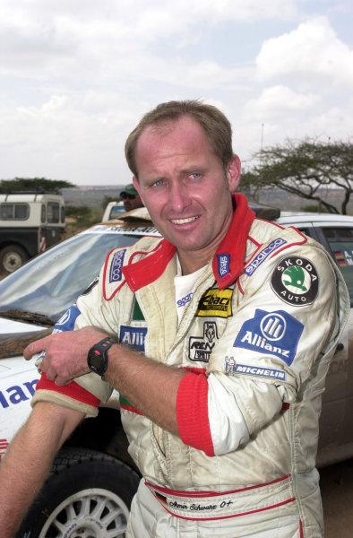 2001 World Rally Championship.Nairobi, Kenya. July 20-22, 2001Armin Schwarz gives Skoda a podium finish.Photo: Ralph Hardwick/LAT