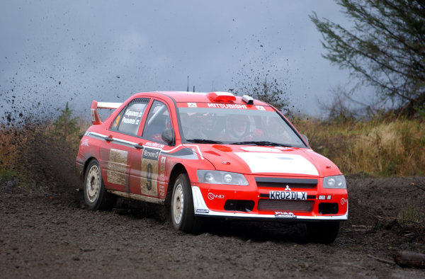 2002 World Rally Championship.Network Q Rally of Great Britain, Cardiff. November 14-17. Jani Paasonen during shakedown.Photo: Ralph Hardwick/LAT