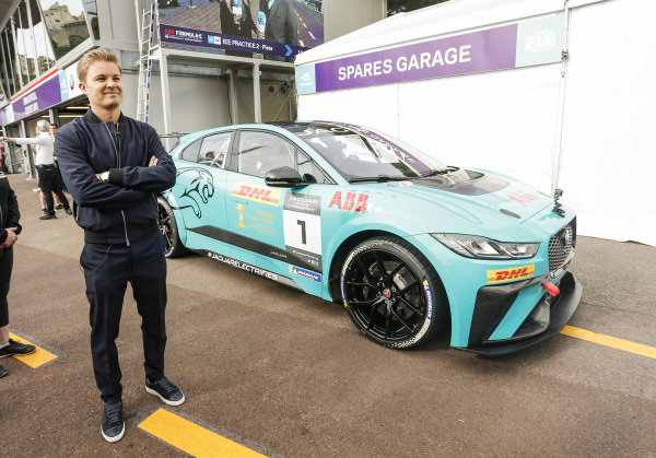 Nico Rosberg, Formula E investor, with the Jaguar I-Pace eTrophy