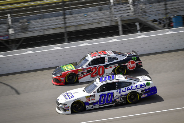 #00: Cole Custer, Stewart-Haas Racing, Ford Mustang Jacob Companies, #20: Christopher Bell, Joe Gibbs Racing, Toyota Supra Rheem / RTP