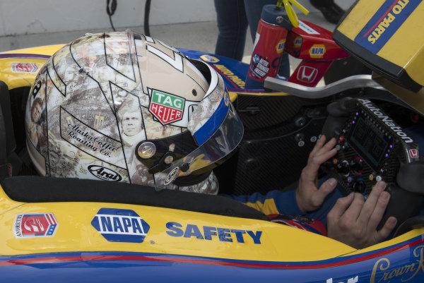 Alexander Rossi, Andretti Autosport Honda with Steve McQueen helmet