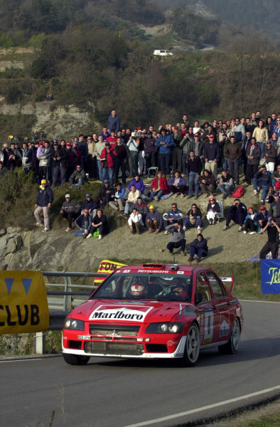 2002 World Rally ChampionshipRally Catalunya, 21st-24th March 2002.Alister McRae on Stage 13 on the final day.Photo: Ralph Hardwick/LAT