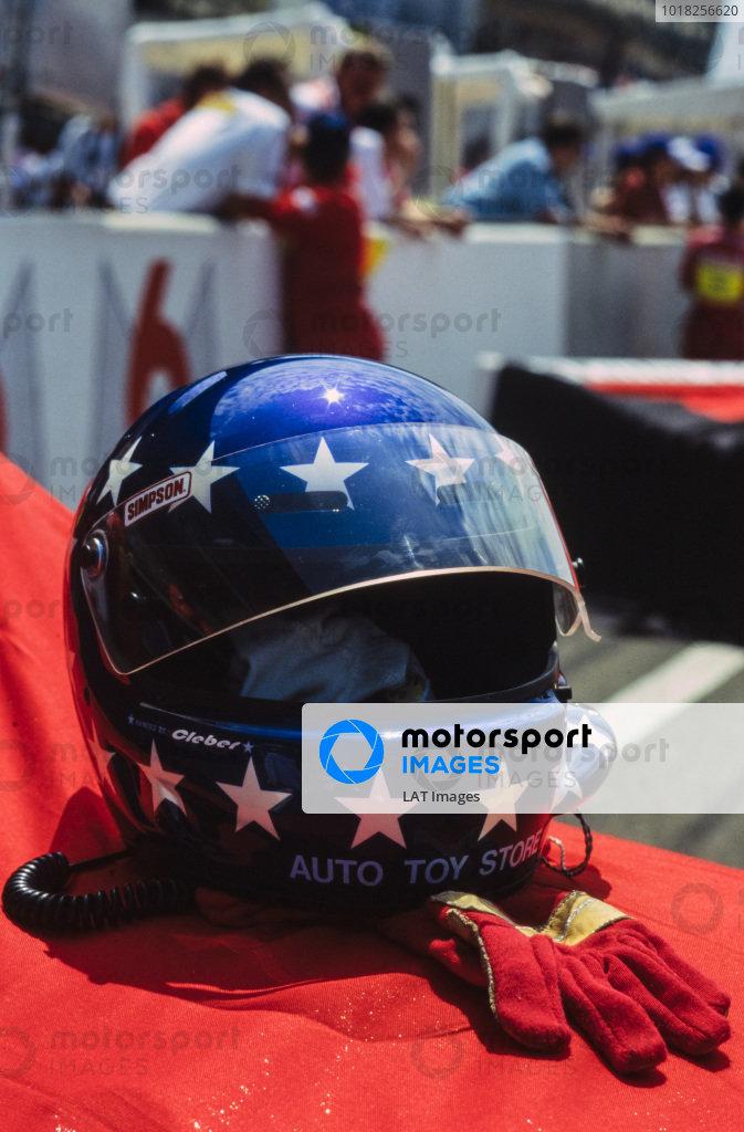 The helmet and gloves of Hans-Joachim Stuck Jr.