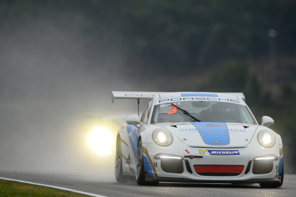 Michael S (INA) OpenRoad Racing Team. Porsche Carrera Cup Asia, Sepang, Malaysia, 28-30 March 2014.
