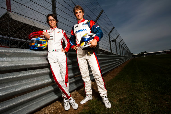 Round 4.Silverstone, England. 8th July 2010. Thursday Preview. Esteban Gutierrez, (MEX, ART Grand Prix) and Nico Muller, (Sui, Jenzer Motorsport), winners of races 5 and 6 in the GP3 series in Valencia.Portrait. World Copyright: Drew Gibson/LAT PhotographicDigital Image _Y2Z7251
