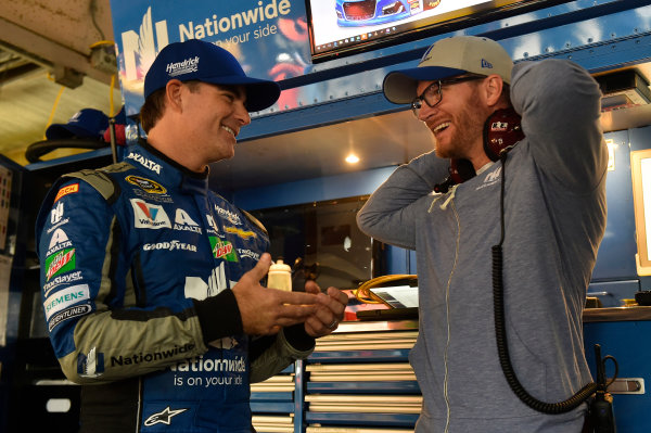 30 September-2 October, 2016, Dover, Delaware USA Jeff Gordon and Dale Earnhardt Jr. ? 2016, Nigel Kinrade LAT PHOTO USA