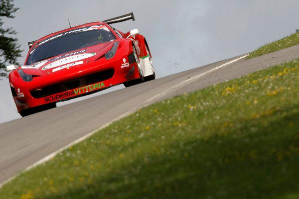 Brands Hatch, Kent. 23rd - 24th June 2012.John Dhillon/Aaron Scott Scuderia Vittoria Ferrari 458 Italia.World Copyright: Ebrey/LAT Photographic.