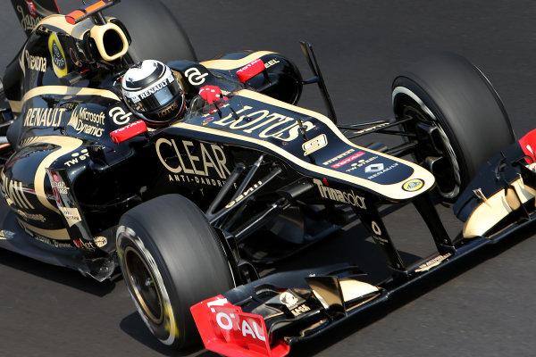 Autodromo Nazionale di Monza, Monza, Italy. 7th September 2012. Kimi Raikkonen, Lotus E20 Renault.  World Copyright: Steve Etherington/LAT Photographic ref: Digital Image SNE24078 copy
