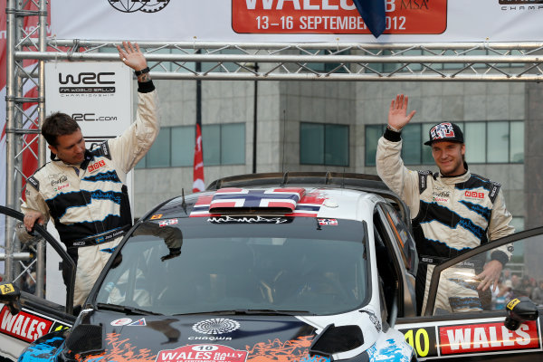 Round 10- Wales Rally GB 12-16/9- 2012.Mads Ostberg, Jonas Andersson, Ford WRC, Podium.Worldwide Copyright: McKlein/LAT