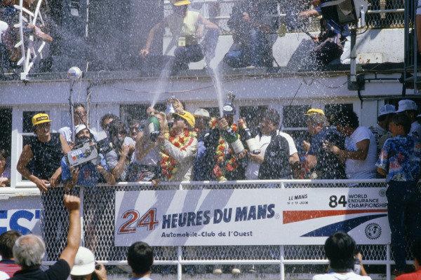 1984 Le Mans 24 hours.Le Mans, France. 16-17 June 1984.Klaus Ludwig/Henri Pescarolo (Porsche 956), 1st position.World Copyright: LAT Photographic. Ref: 84LM13.