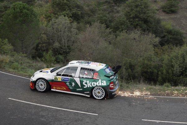 2005 FIA World Rally Champs. Round fifteenRally RACC Catalunya - Costa Durada.27th-30th  October 2005.Jan Kopecky, Skoda, action.World Copyright: McKlein/LAT
