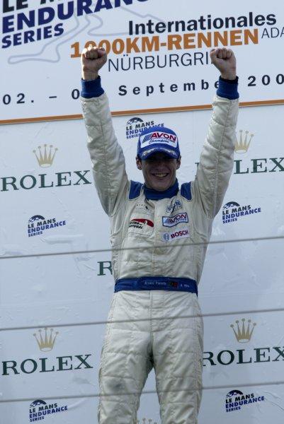 2005 British Formula ThreeNurburgring, Germany2-4th September 2005 Alvaro Parente, Carlin Motorsport. race two podium.World Copyright: Andrew Ferraro/LAT Photographicref: Digital Image Only