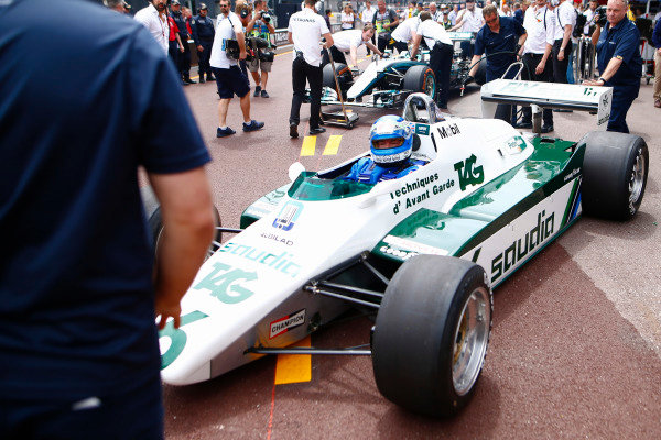 Keke Rosberg is reunited with his 1982 Williams FW08 Cosworth.