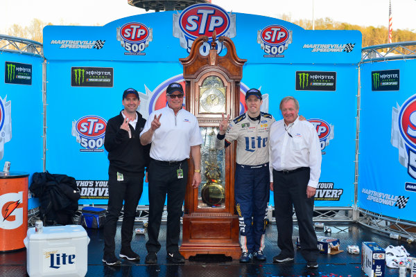 2017 Monster Energy NASCAR Cup Series STP 500 Martinsville Speedway, Martinsville, VA USA Sunday 2 April 2017 Tim Duerr, Brad Keselowski, and Edsel Ford in victory lane World Copyright: Logan Whitton/LAT Images ref: Digital Image 17MART1LW2833