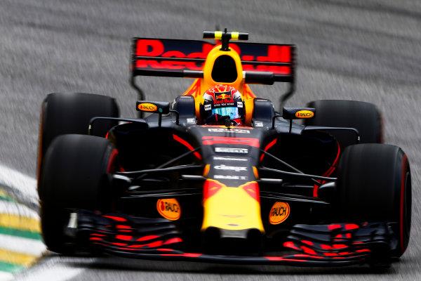 Interlagos, Sao Paulo, Brazil. Friday 10 November 2017. Max Verstappen, Red Bull Racing RB13 TAG Heuer. World Copyright: Andrew Hone/LAT Images  ref: Digital Image _ONZ4005