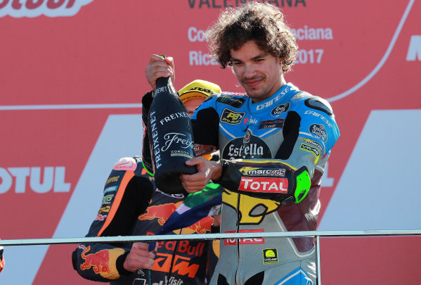 2017 Moto2 Championship - Round 18 Valencia, Spain  Sunday 12 November 2017 Podium: Franco Morbidelli, Marc VDS  World Copyright: Gold and Goose Photography/LAT Images  ref: Digital Image 706502